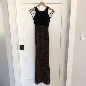 Laundry by Shelli Segal | Brown Velvet Dress